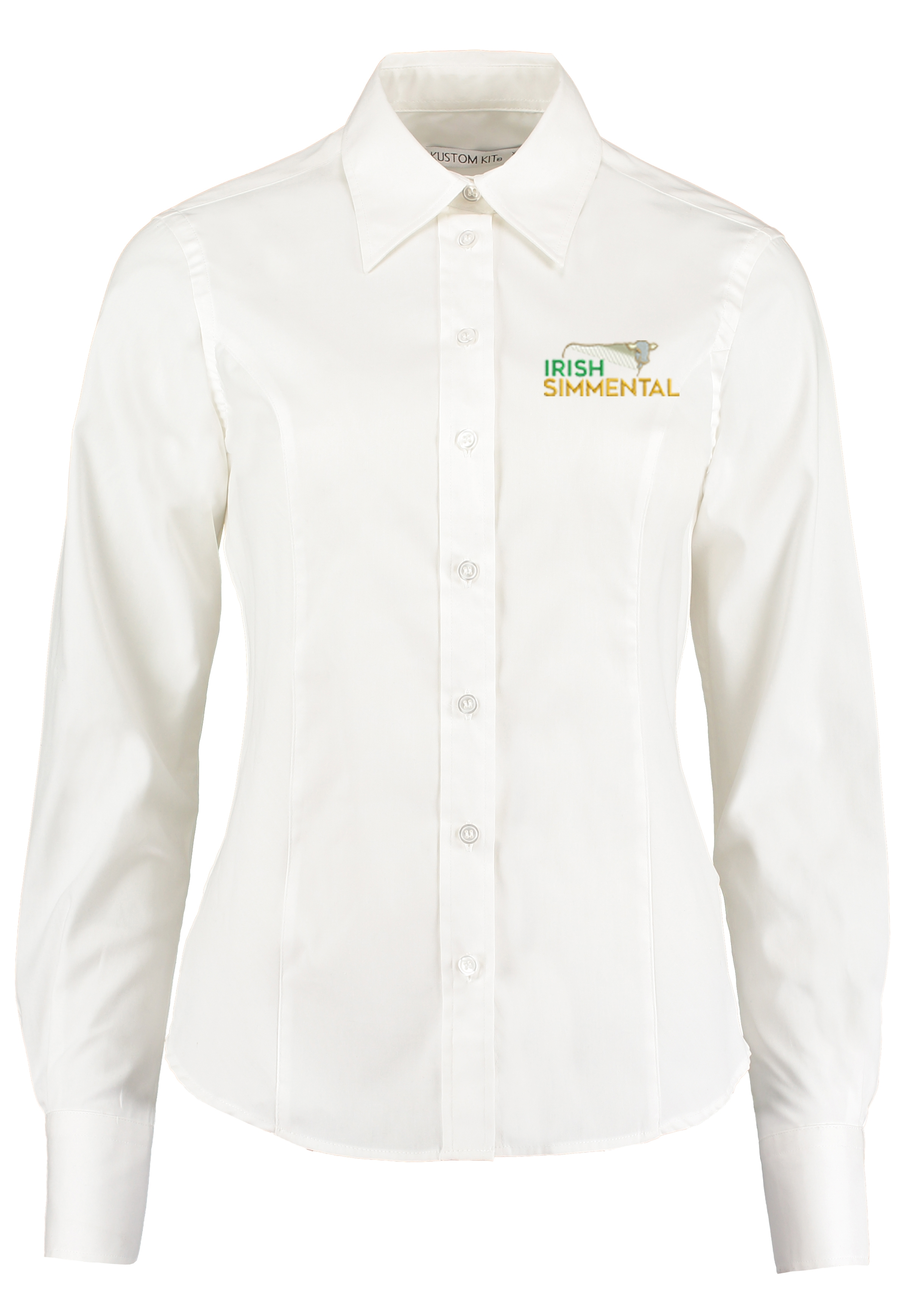 Irish Simmental Ladies Long Sleeved Shirt