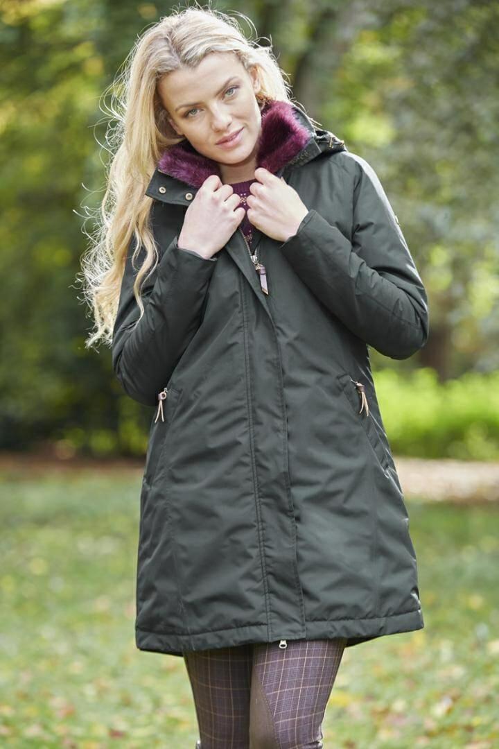 Toggi Amaris Ladies Dog Walker Coat – Dark Green – Size 16