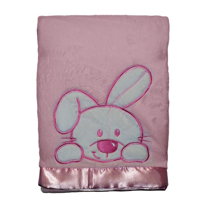 Baby Blanket Pink Bunny
