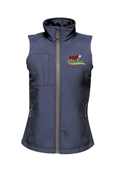Irish Hereford Octagon Softshell Ladies Bodywarmer