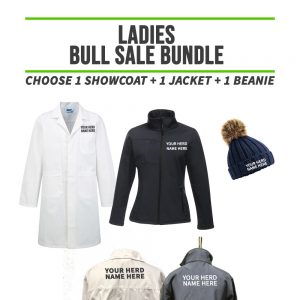 Ladies Bull Sale Bundle  – INCLUDES SAME FRONT EMBROIDERY LOGO 3 ITEMS & BACK TEXT ONLY