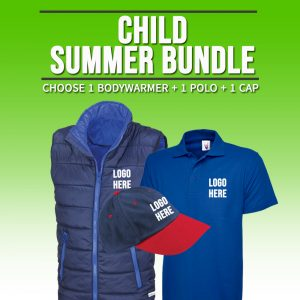 Child Summer Bundle – includes same Front Embroidery Logo 3 items