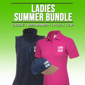 Ladies Summer Bundle  – INCLUDES SAME FRONT EMBROIDERY LOGO 3 ITEMS