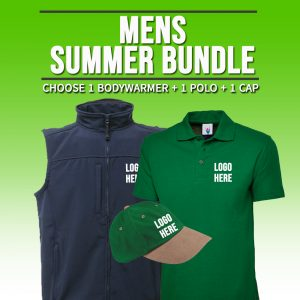 Mens Summer Bundle – INCLUDES SAME FRONT EMBROIDERY LOGO 3 ITEMS
