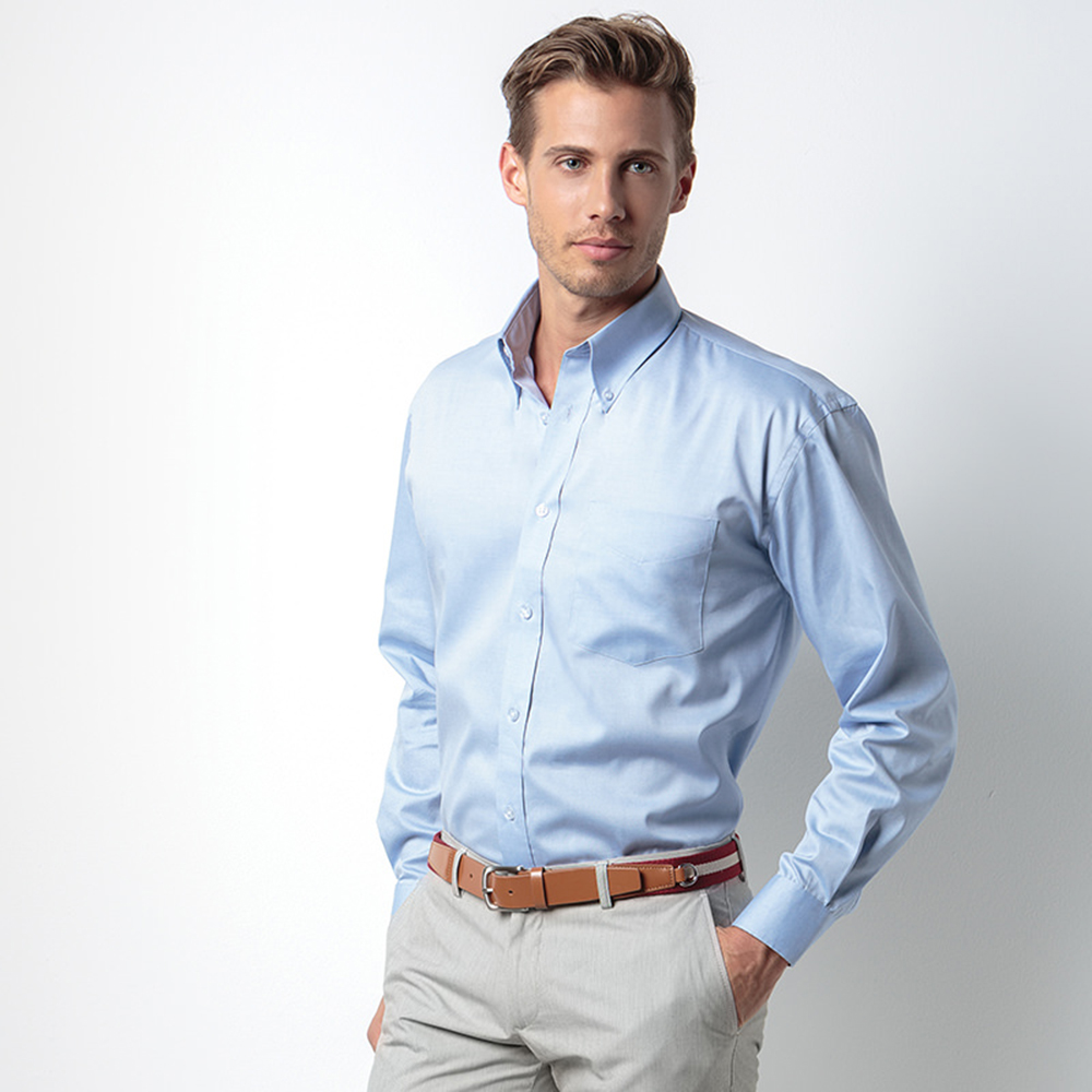 Kustom Kit Mens Oxford Long Sleeve Shirt