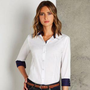 Kustom Kit Contrast Premium Oxford Shirt – Ladies