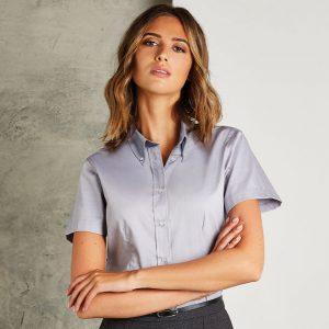 Kustom Kit Ladies Oxford Short Sleeve Shirt