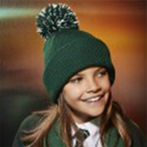 Beechfield Junior reflective bobble beanie