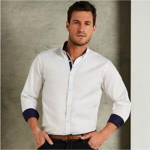Kustom Kit Contrast Premium Oxford Shirt – Mens