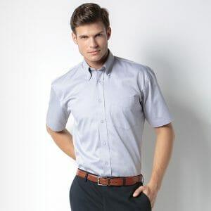 Kustom Kit Mens Oxford Short Sleeve Shirt