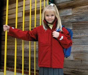 Result Junior classic softshell 3 layer jacket