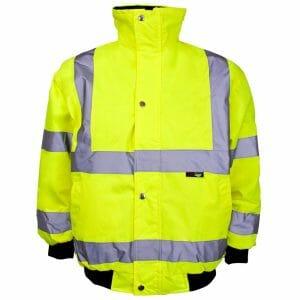 Supertouch Hi Vis Yellow Junior Bomber Jacket