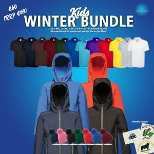 Kids Winter Bundle – includes same Front Embroidery Logo 3 items