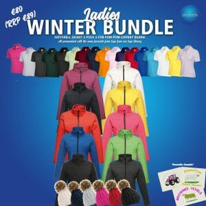 Ladies Winter Bundle  – INCLUDES SAME FRONT EMBROIDERY LOGO 3 ITEMS