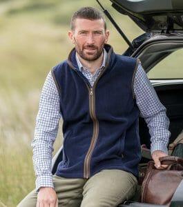 Hoggs of Fife Stenton Technical Fleece Gilet