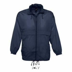 SOLS Mens Score Waterproof Full Zip Windbreaker Jacket – Navy – Size L