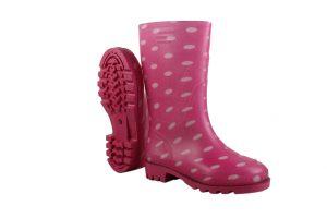 Pink Spotty Wellingtons