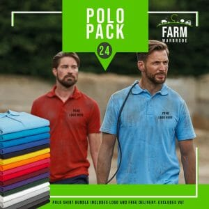 Polo Shirt Bundle Qty 24 – Includes Front Logo & Free Delivery – Includes VAT